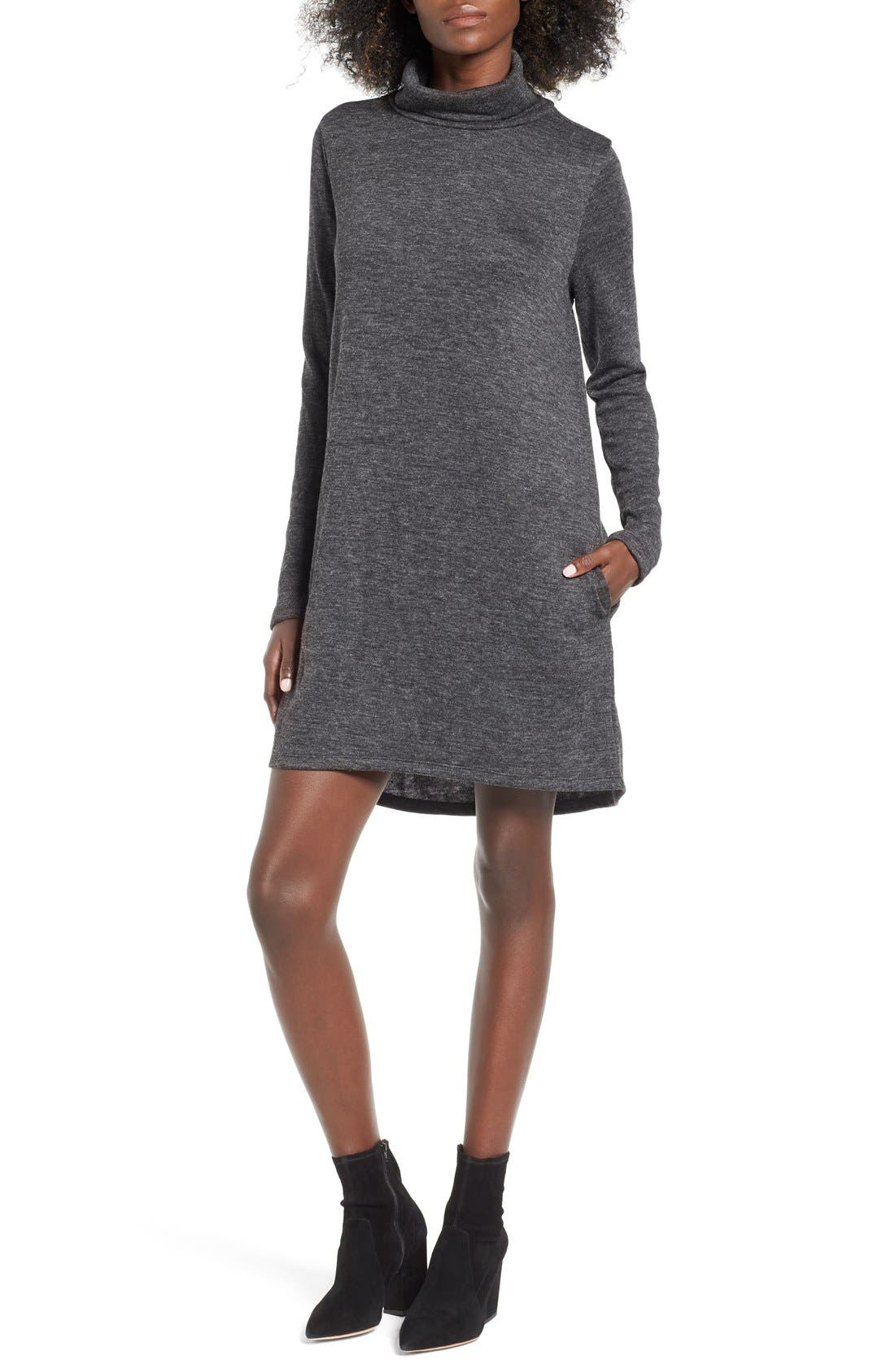 Main Image - Leith Funnel Neck Dress
