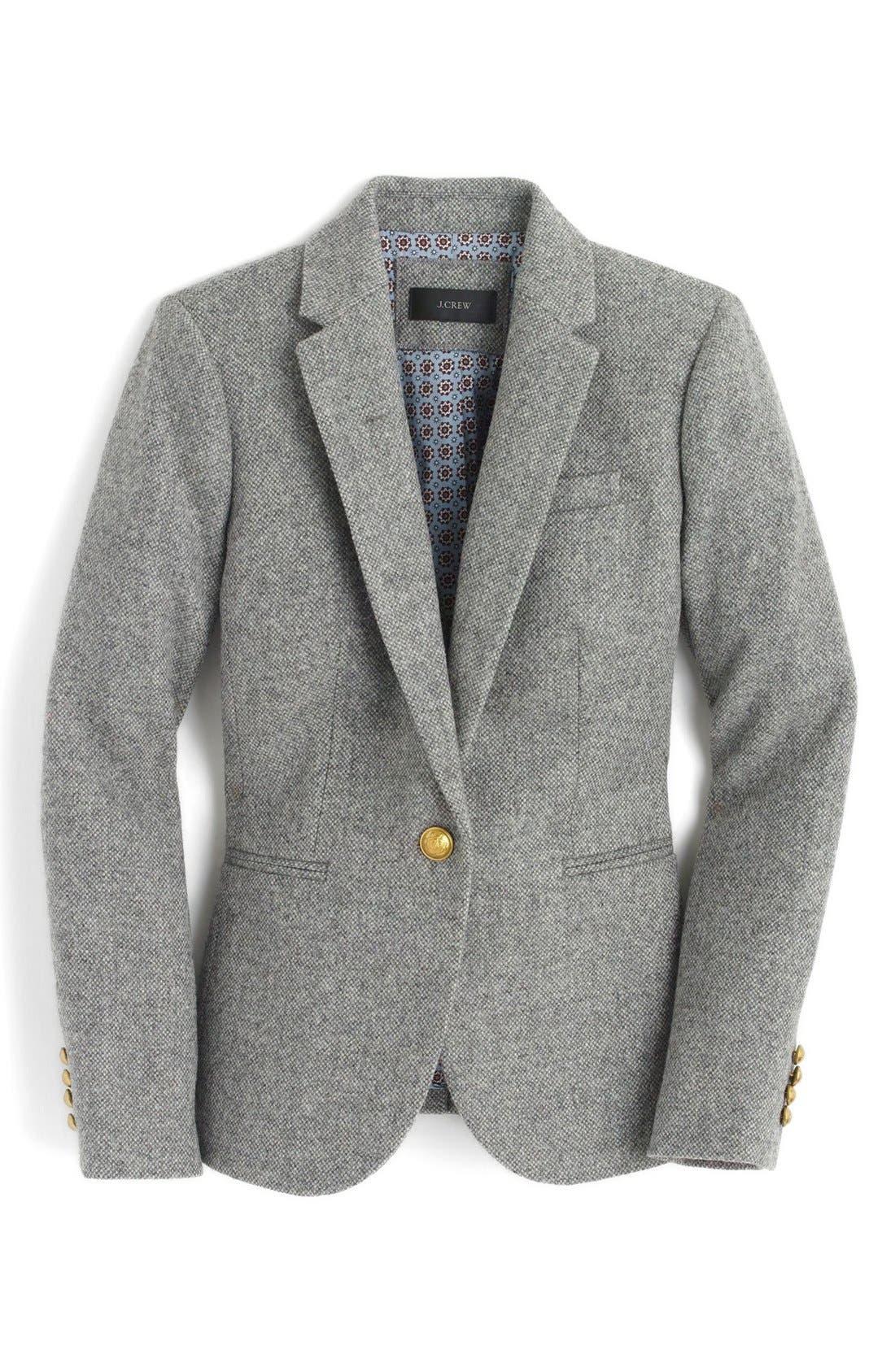 Alternate Image 4  - J.Crew Collection Campbell Donegal Wool Blazer (Regular & Petite)