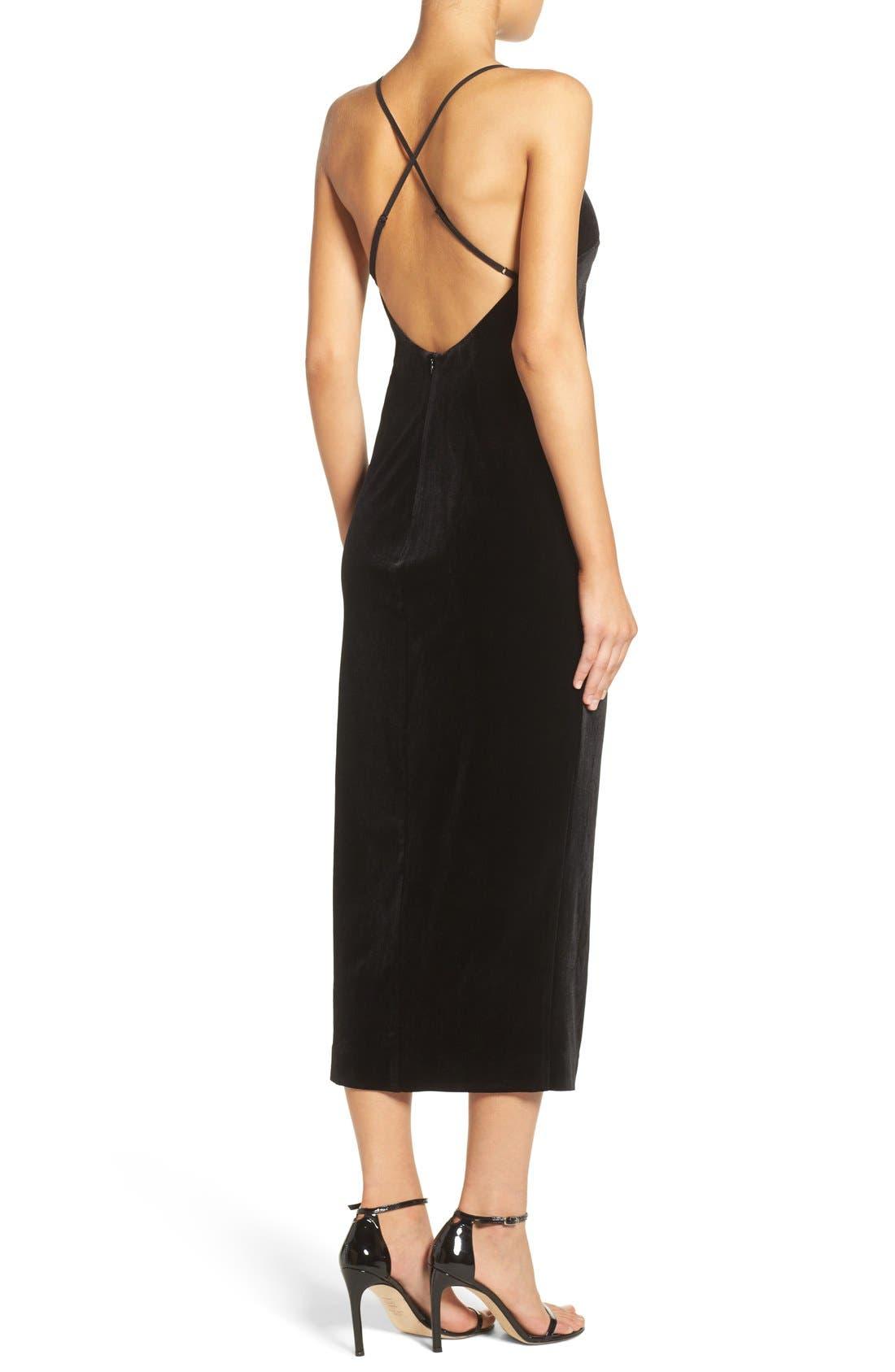 Alternate Image 2  - Bardot Raven Velvet Slipdress