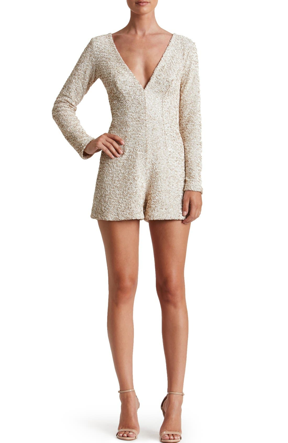 Alternate Image 4  - Dress the Population Bianca Sequin Romper
