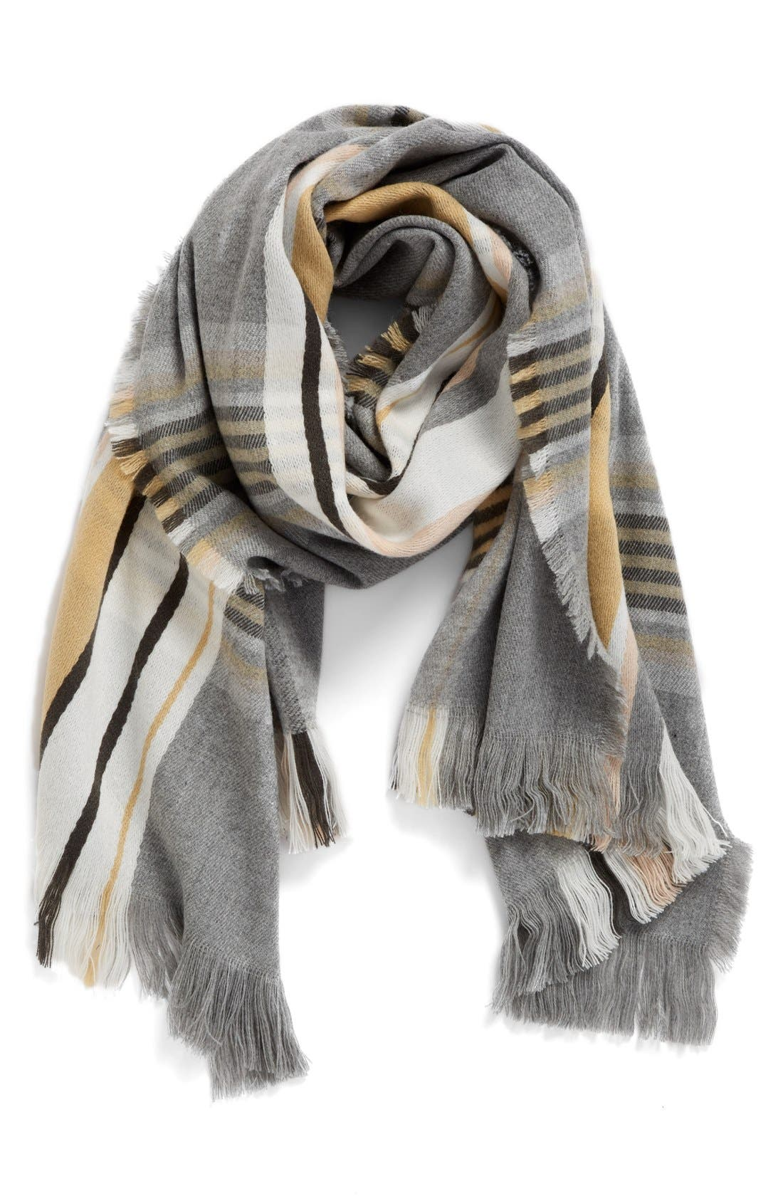 Alternate Image 1 Selected - BP. Stripe Plaid Scarf