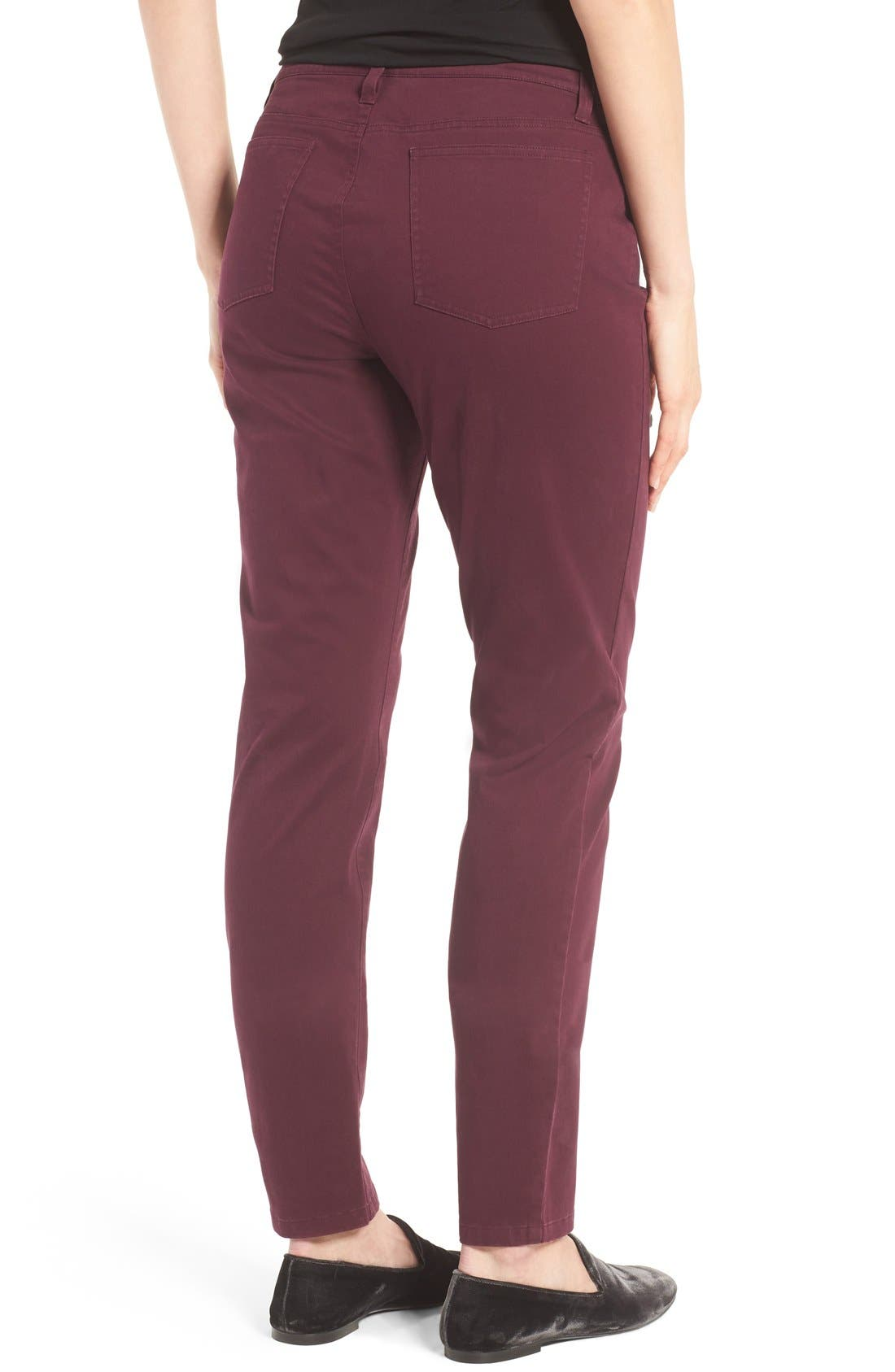 Alternate Image 2  - Eileen Fisher Organic Cotton Sateen Skinny Jeans