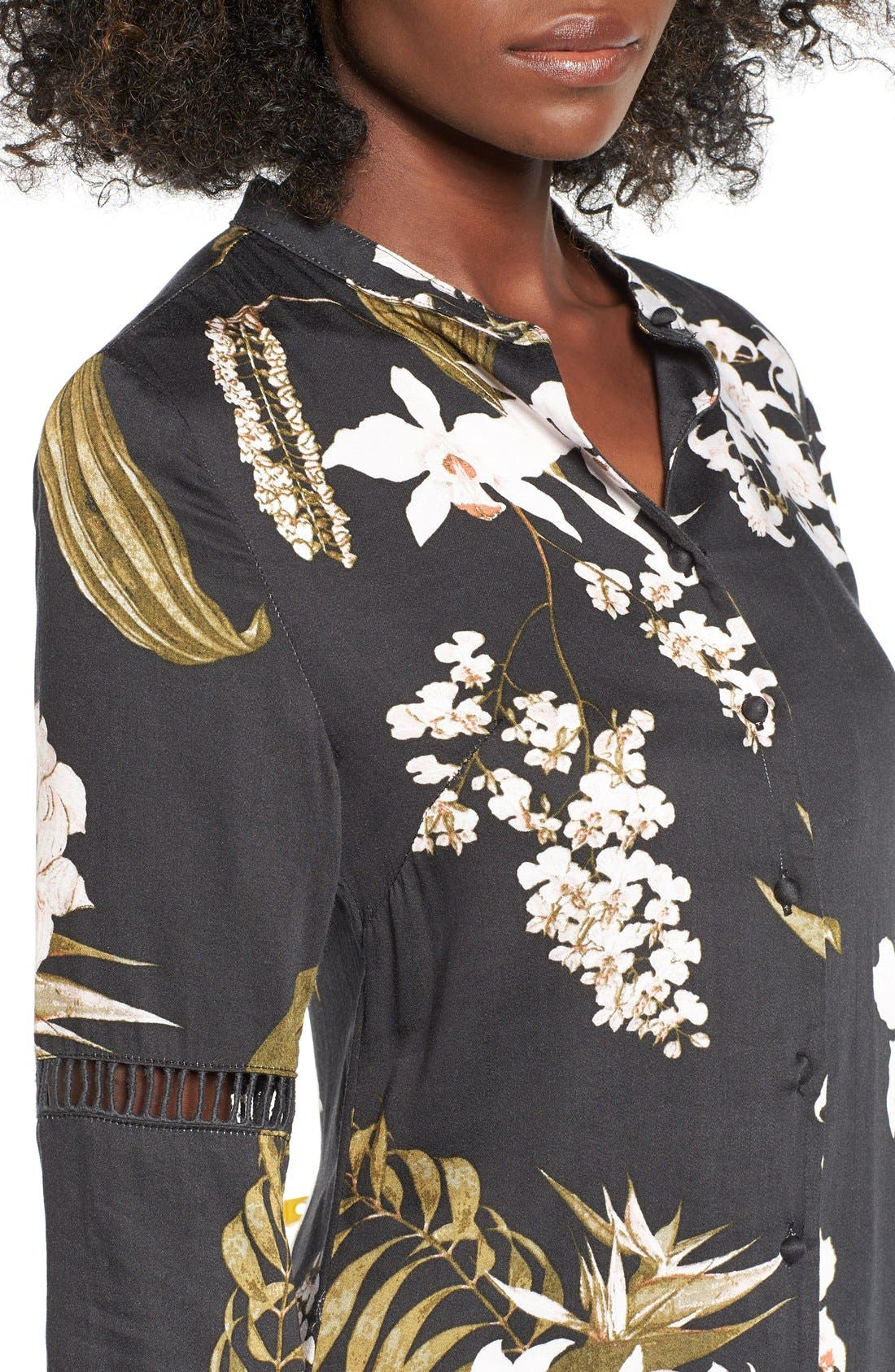 Alternate Image 4  - Somedays Lovin 'Sweet Light' Floral Print Shirtdress