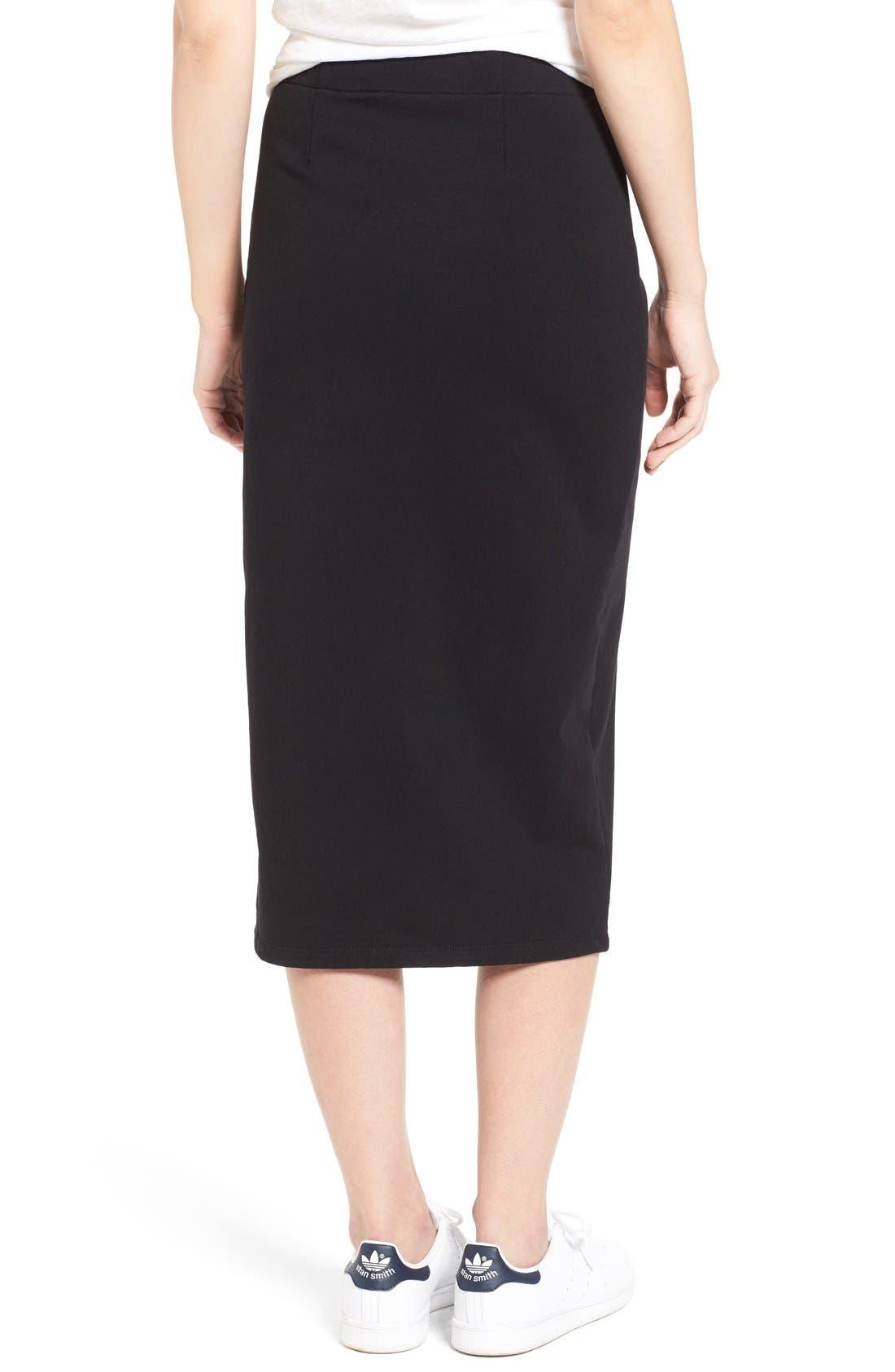 Alternate Image 2  - James Perse Stretch Fleece Pencil Skirt