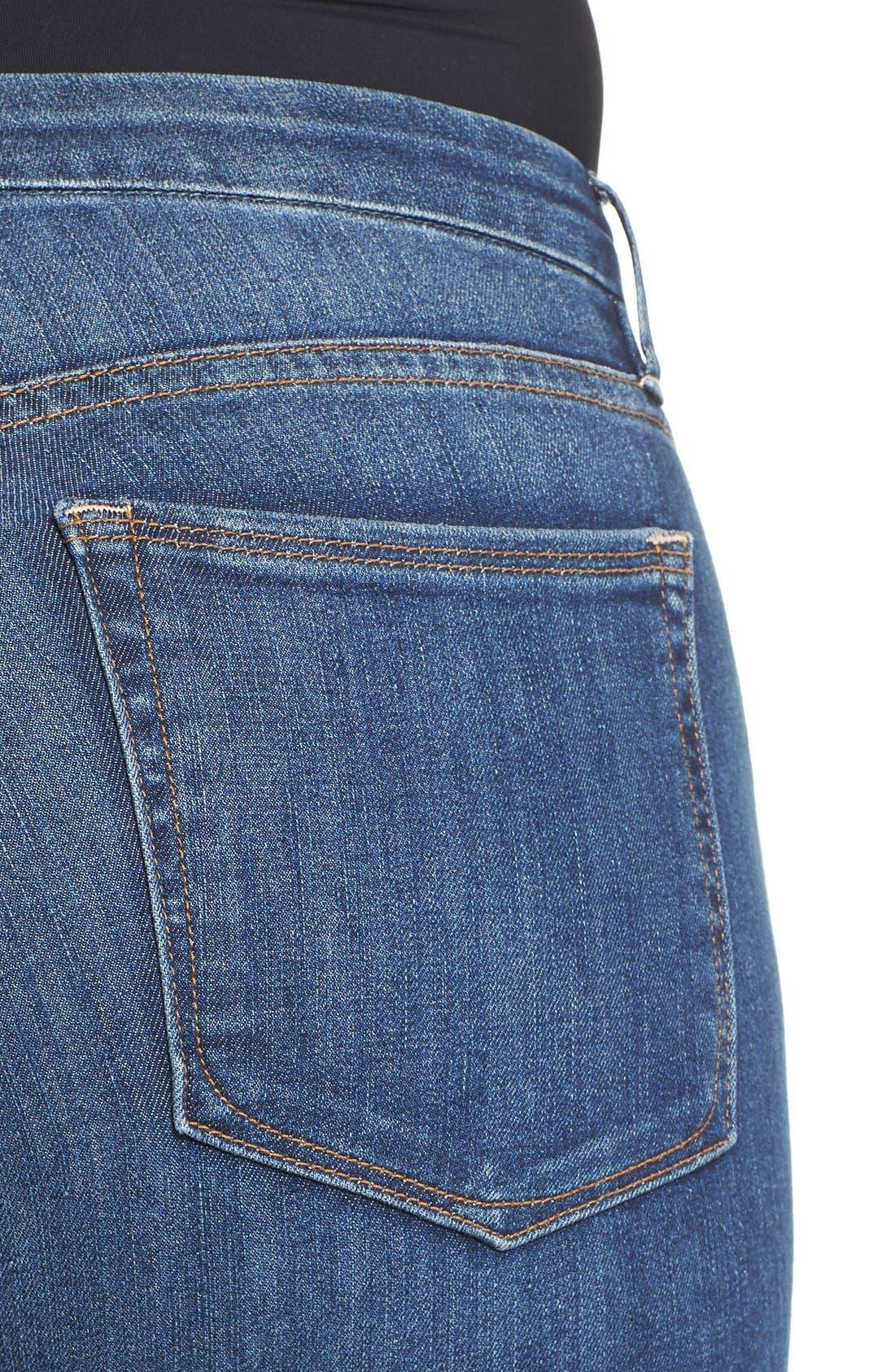 Alternate Image 8  - Good American Good Legs High Rise Crop Released Hem Skinny Jeans