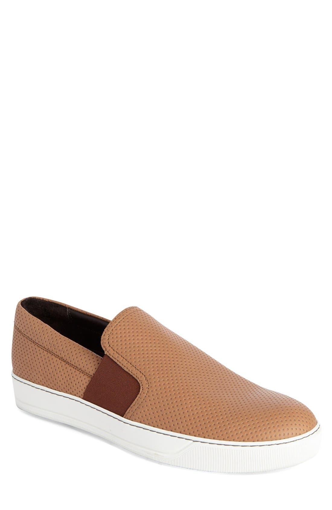 LANVIN Perforated Slip-On Sneaker