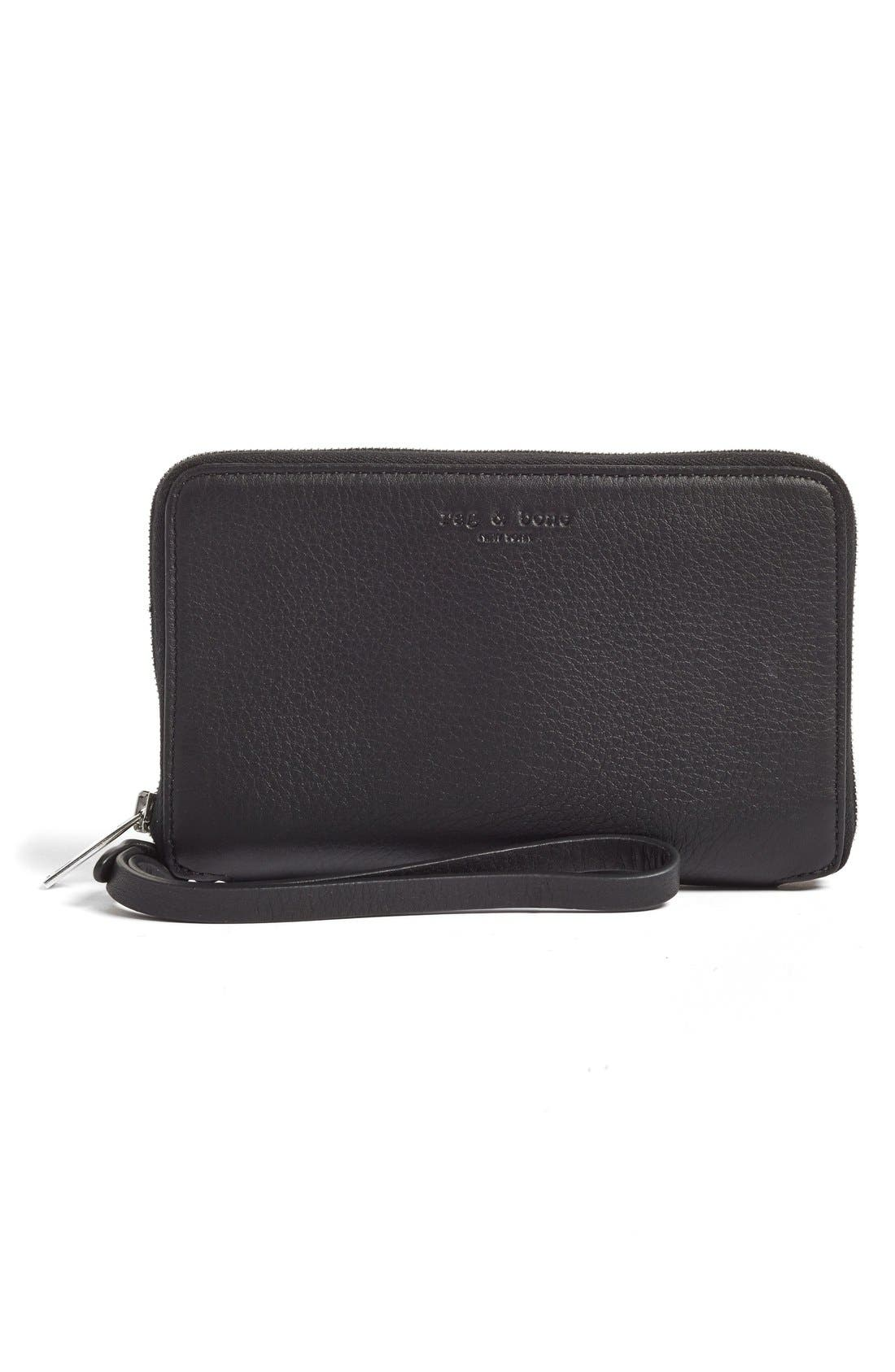rag & bone Zip Around Leather Smartphone Wallet