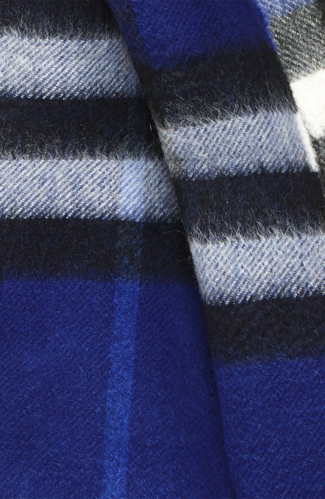 Alternate Image 3  - Burberry Heritage Giant Check Fringed Cashmere Muffler