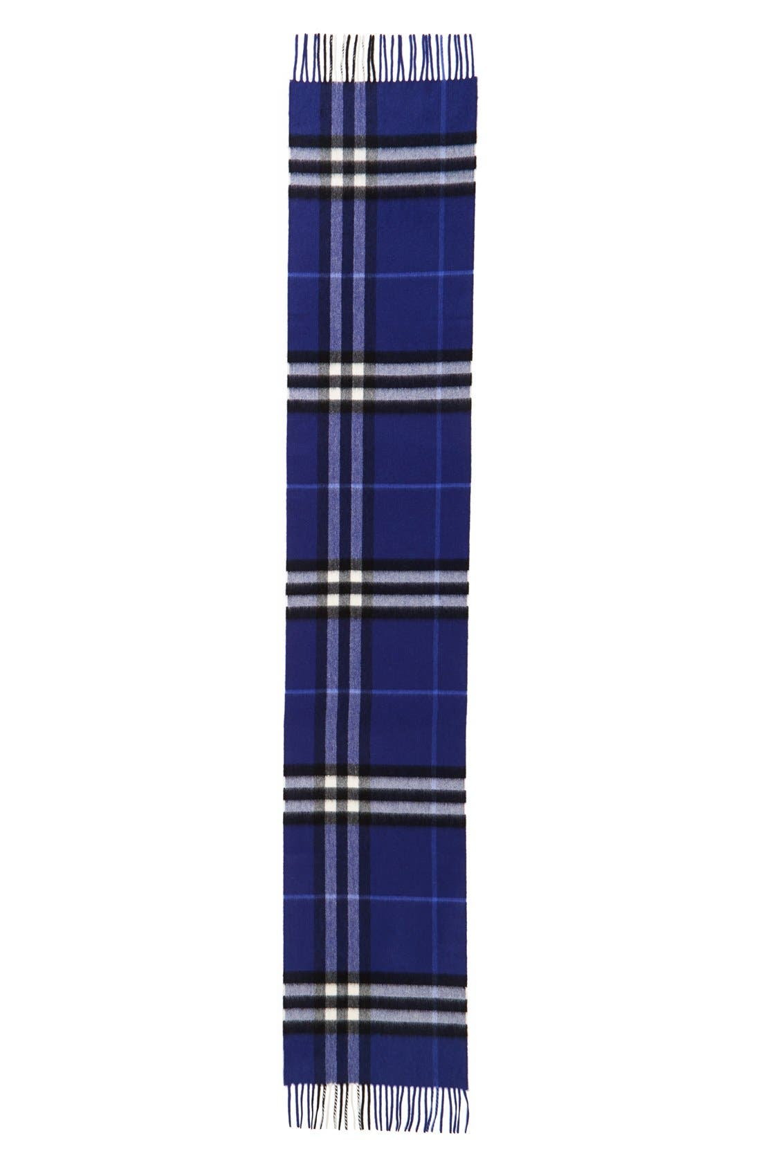 Alternate Image 1 Selected - Burberry Heritage Giant Check Fringed Cashmere Muffler
