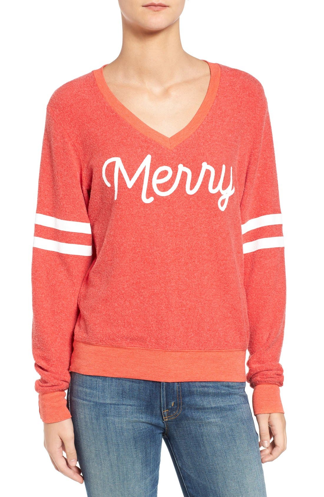 Alternate Image 1 Selected - Wildfox Baggy Beach Jumper - Merry Pullover