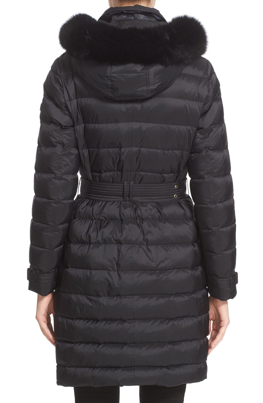 Alternate Image 2  - Burberry Ashmoore Down Puffer with Genuine Fox Fur Trim