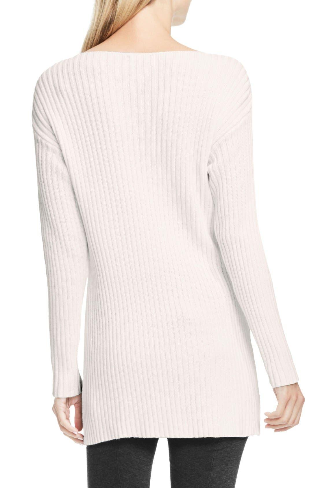 Alternate Image 3  - Vince Camuto Rib Knit Long Sweater (Petite)