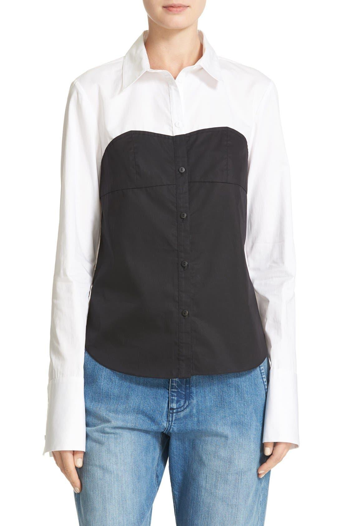 Alternate Image 1 Selected - Tibi Bustier Shirt
