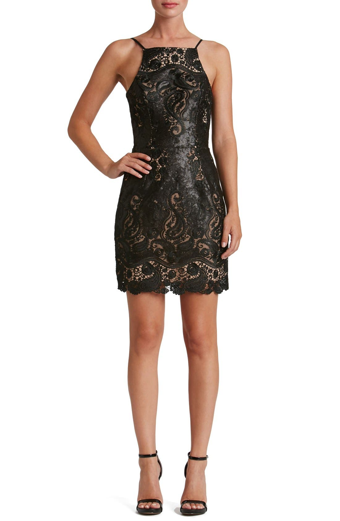 Alternate Image 5  - Dress the Population Julie Sequin Lace Sheath Dress