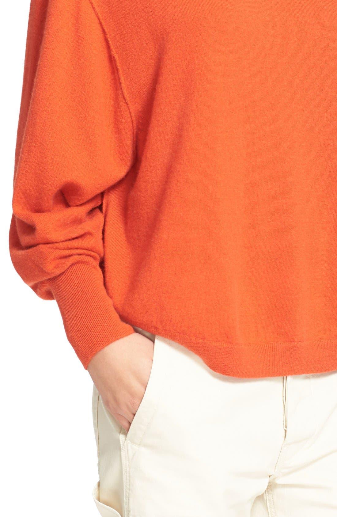 Alternate Image 4  - Vince Shirttail Cashmere Sweater