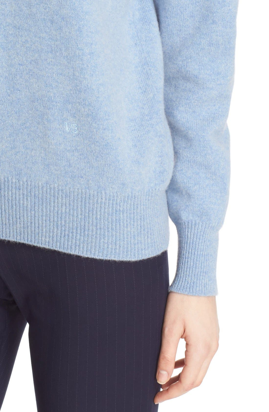 Alternate Image 5  - Victoria Beckham Double V-Neck Felted Lambswool Sweater
