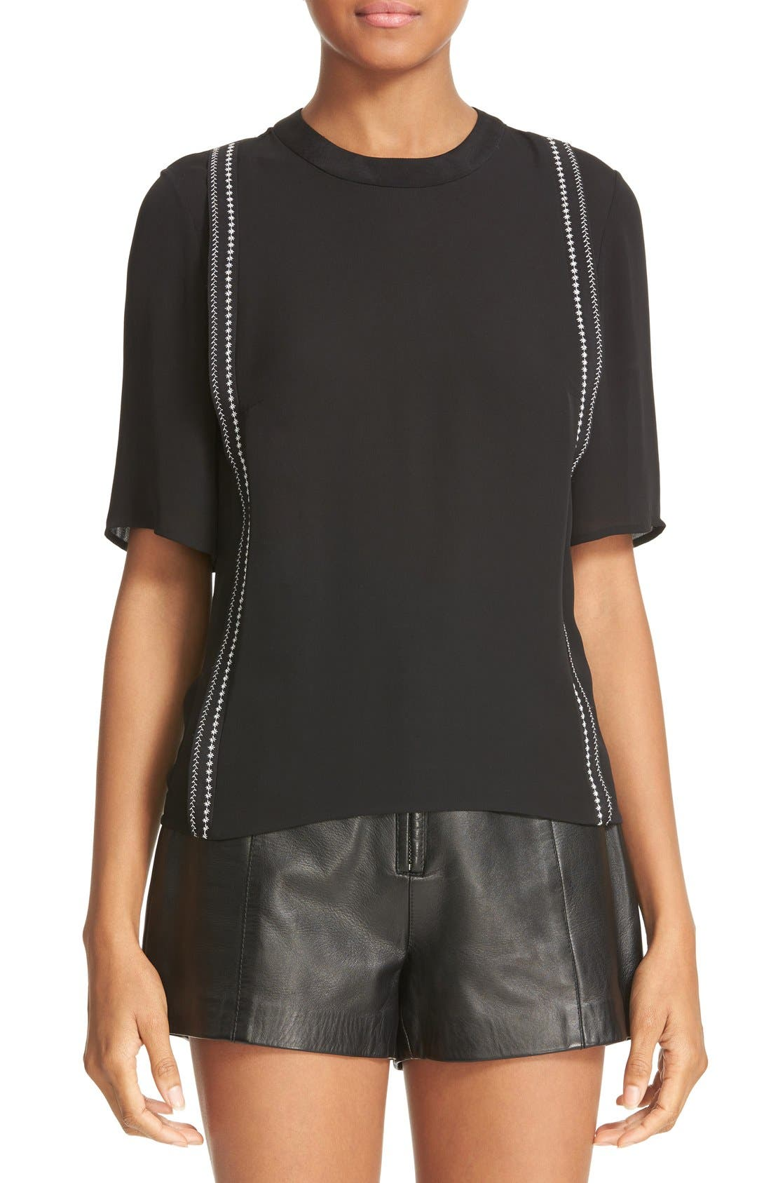 3.1 PHILLIP LIM Embroidered Silk Top