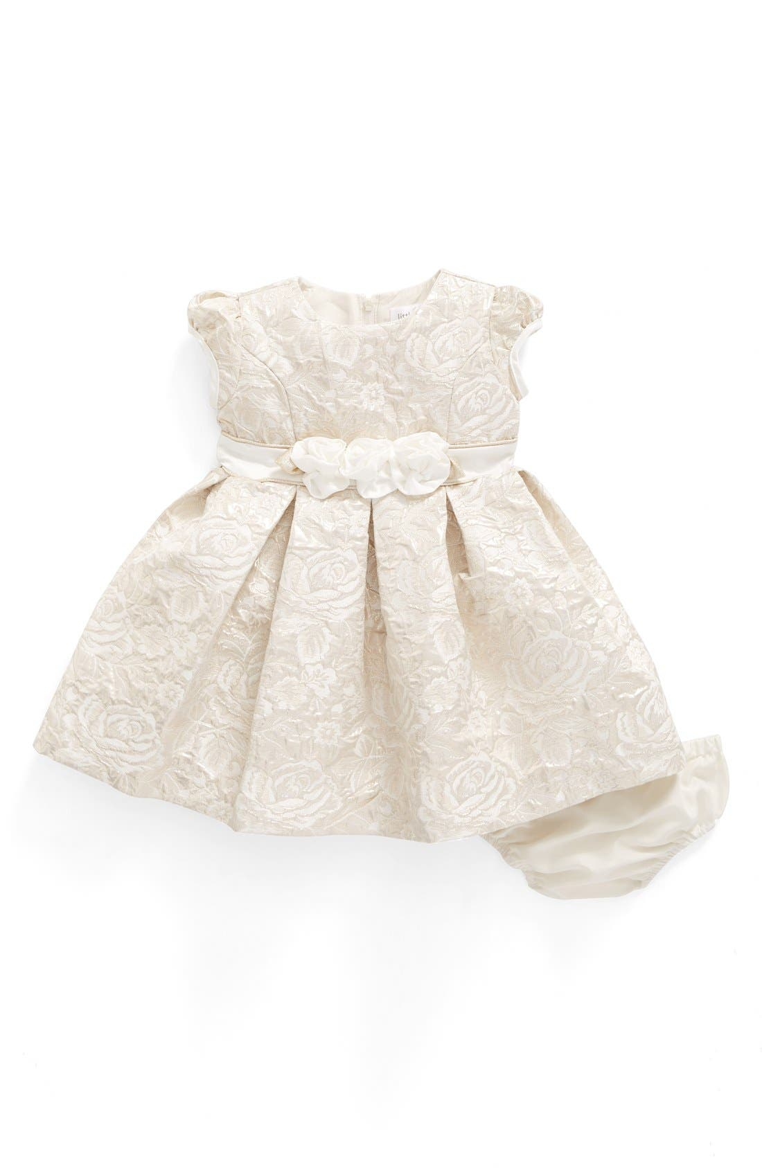 Us Angels Floral Jacquard Dress (Baby Girls)