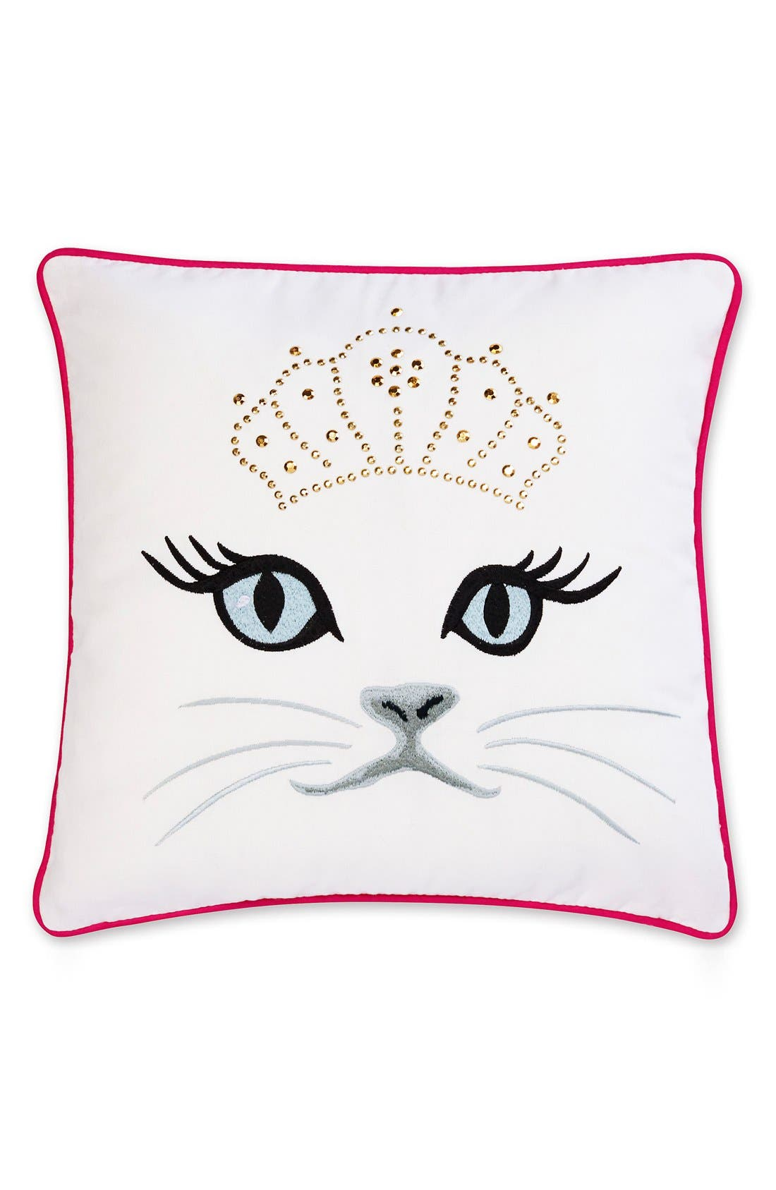 Alternate Image 1 Selected - Betsey Johnson Bedding Polished Punk Cat Pillow