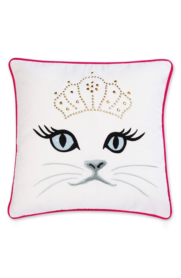 Betsey Johnson Bedding Polished Punk Cat Pillow Nordstrom