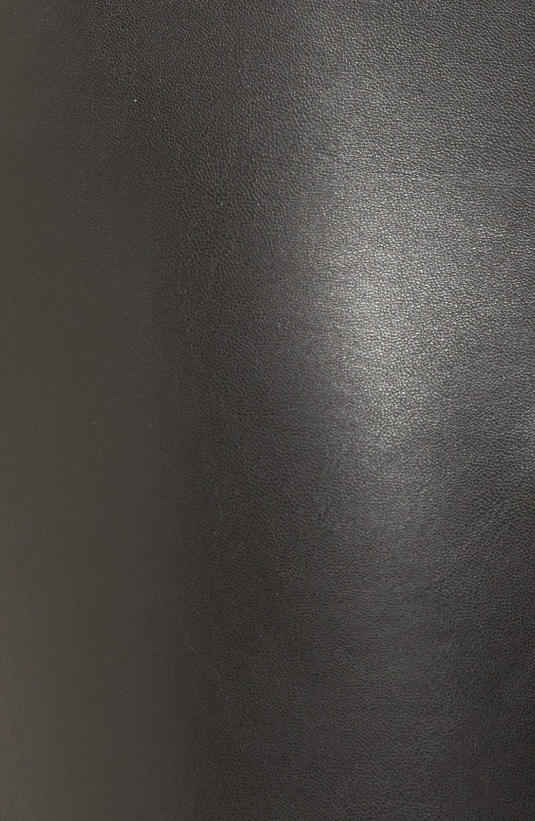 Alternate Image 5  - BP. Faux Leather Front Moto Leggings