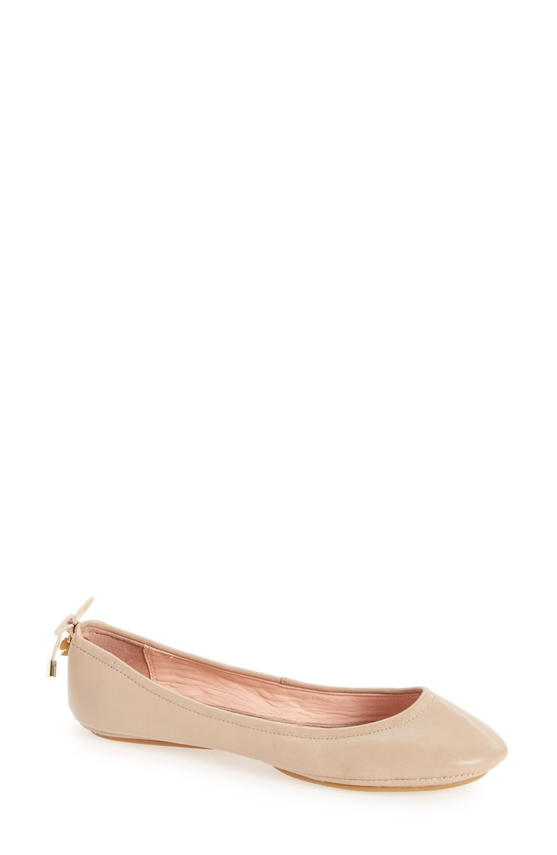 KATE SPADE NEW YORK globe foldable ballet flat