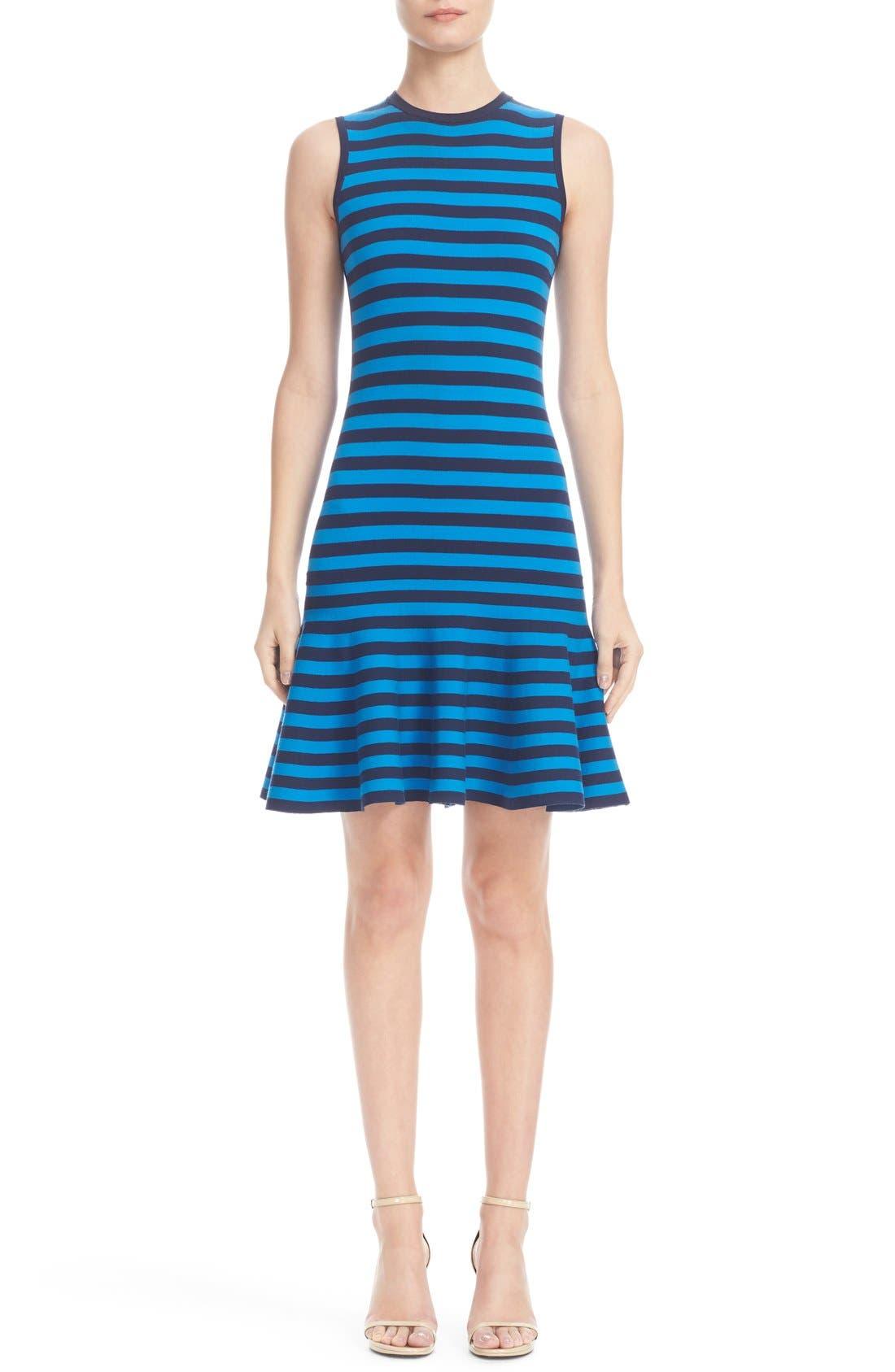 MICHAEL KORS Stripe Sleeveless Dress