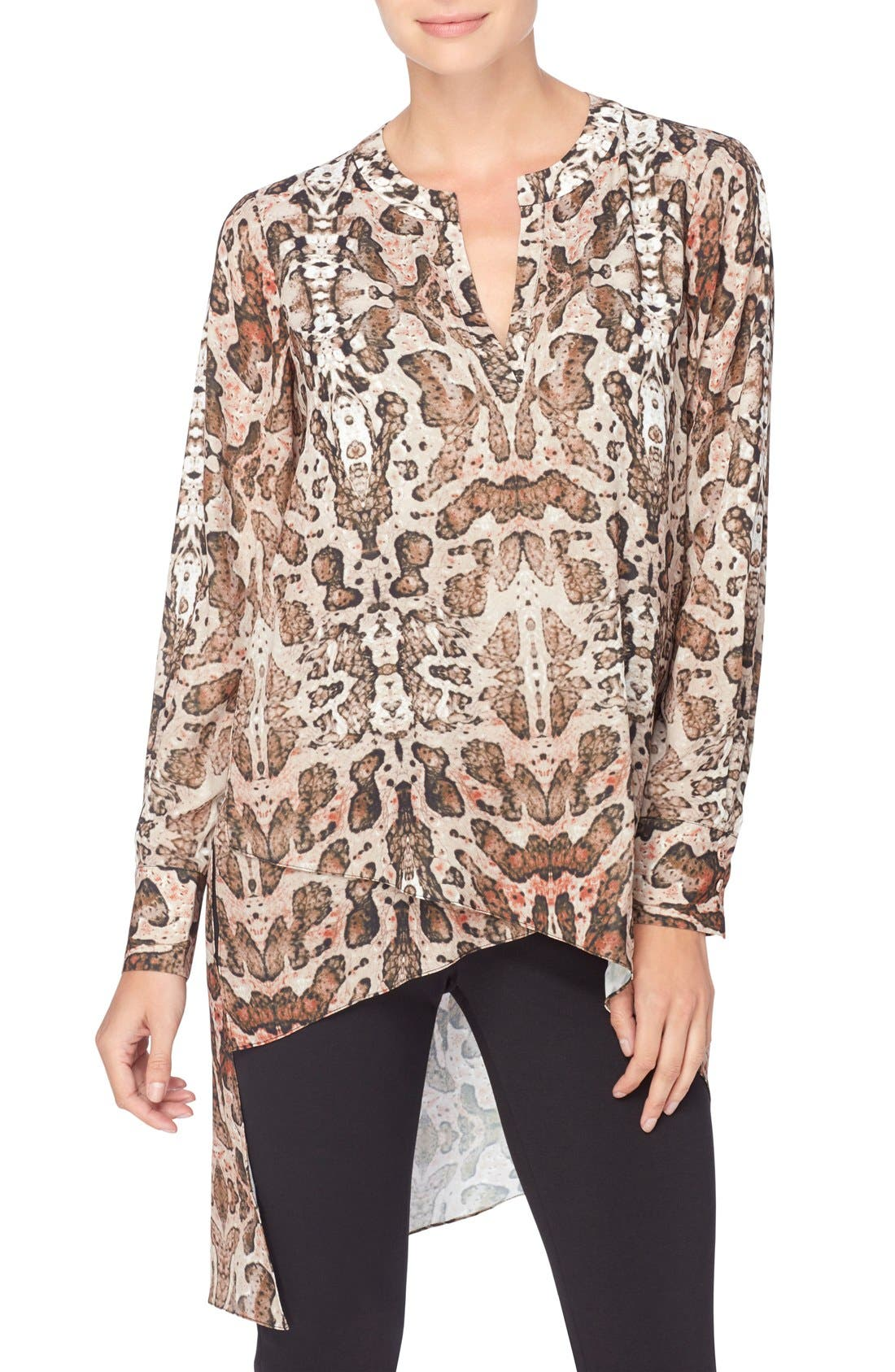 CATHERINE CATHERINE MALANDRINO 'Livy' High/Low Tunic Blouse