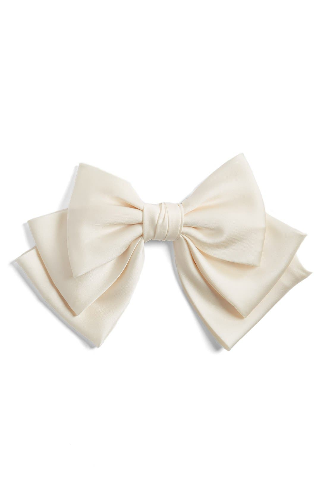 Alternate Image 1 Selected - Cara Floppy Satin Bow Barrette