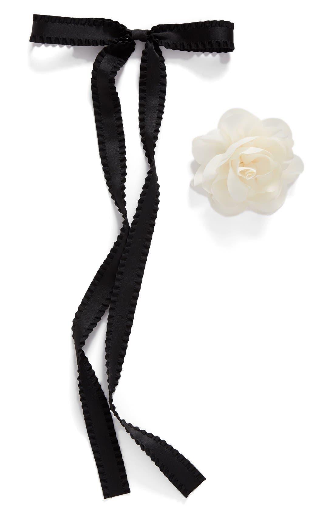 Alternate Image 2  - Cara Flower & Bow Pin