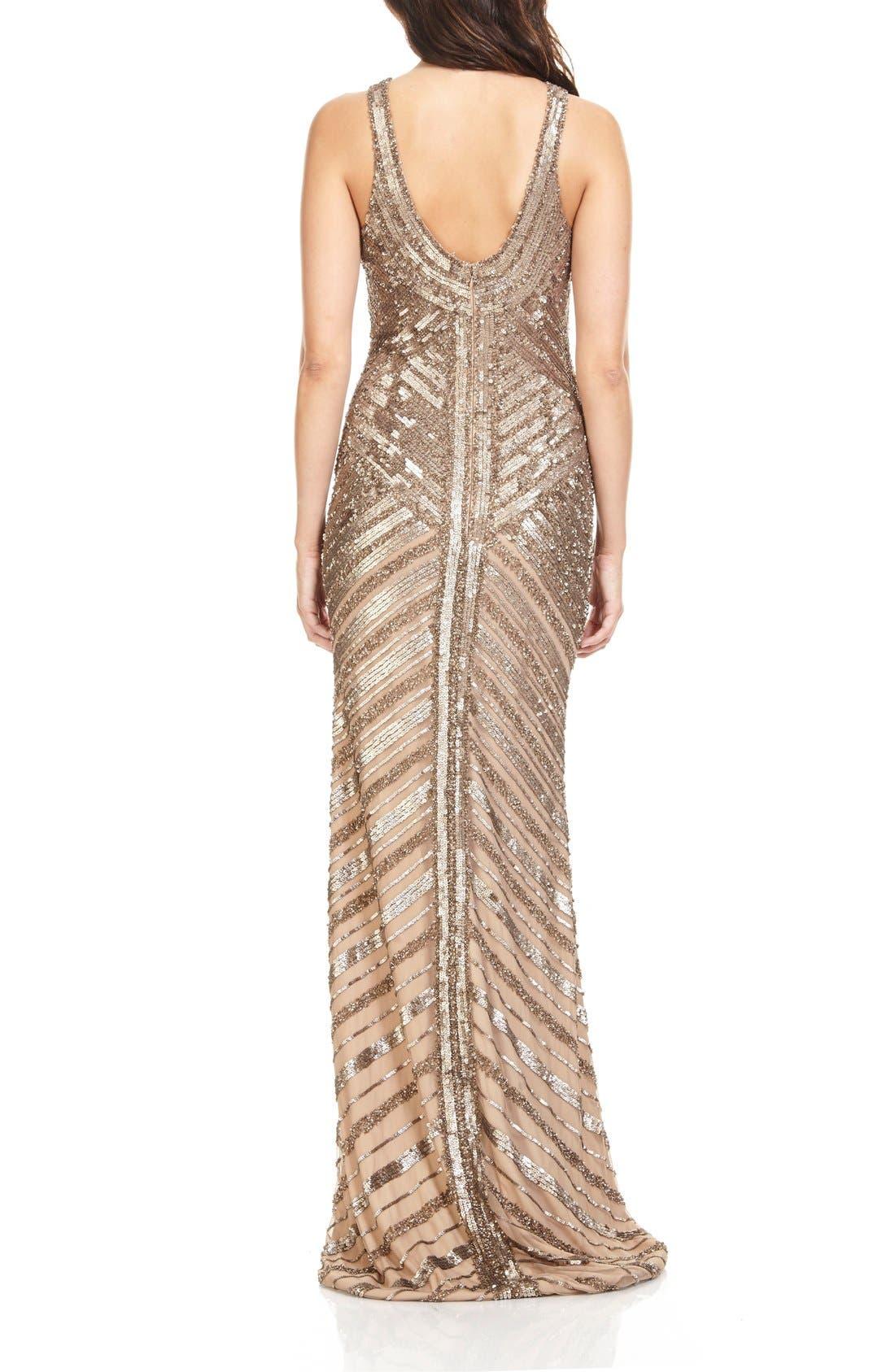 Alternate Image 2  - Theia Sequin Column Gown