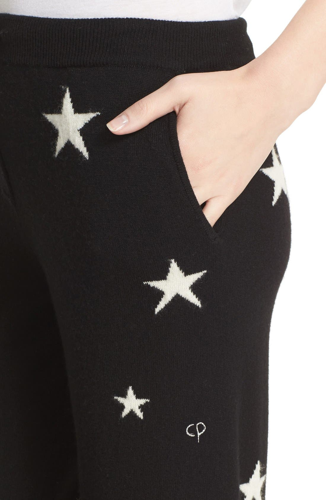 Alternate Image 5  - Chinti and Parker Star Knit Cashmere Track Pants