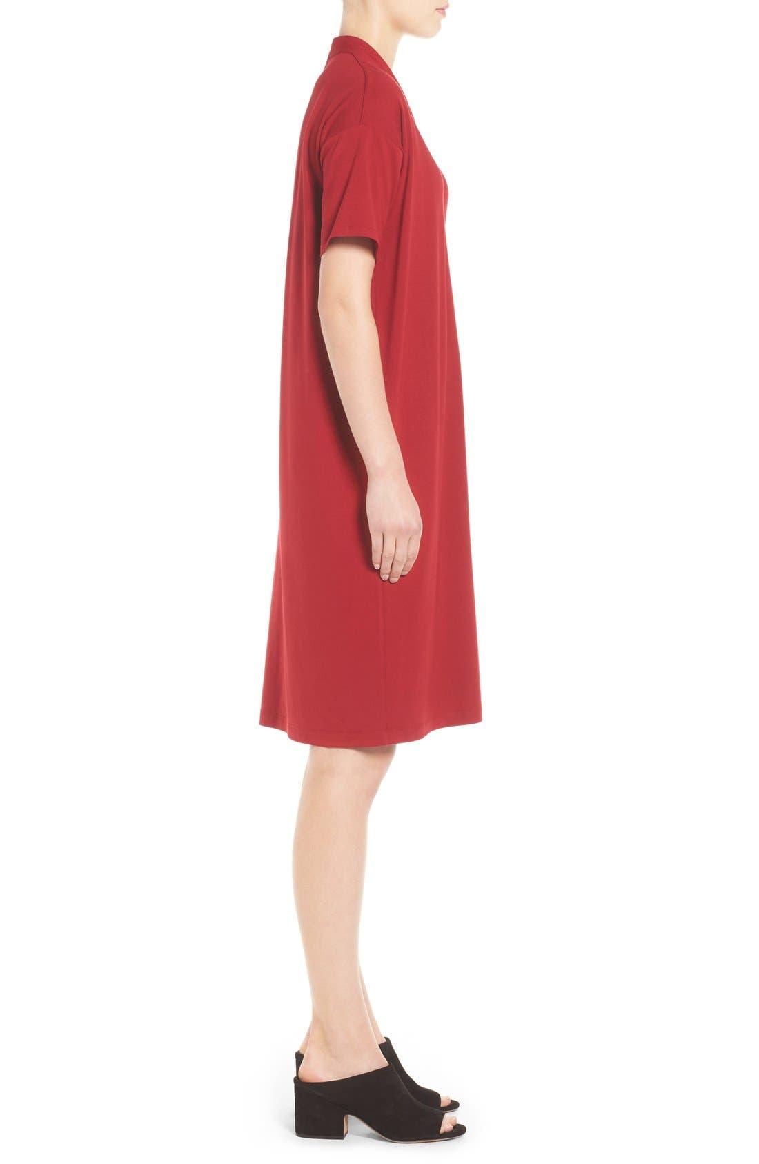 Alternate Image 3  - Eileen Fisher V-Neck Stretch Jersey Shift Dress