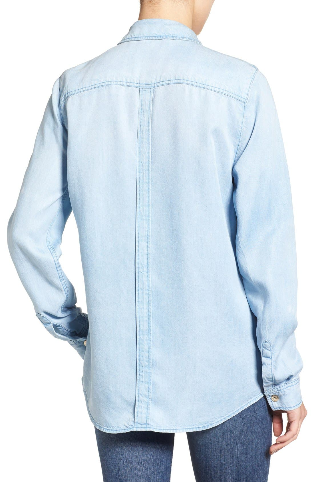 Alternate Image 2  - 7 For All Mankind® Boyfriend Chambray Shirt