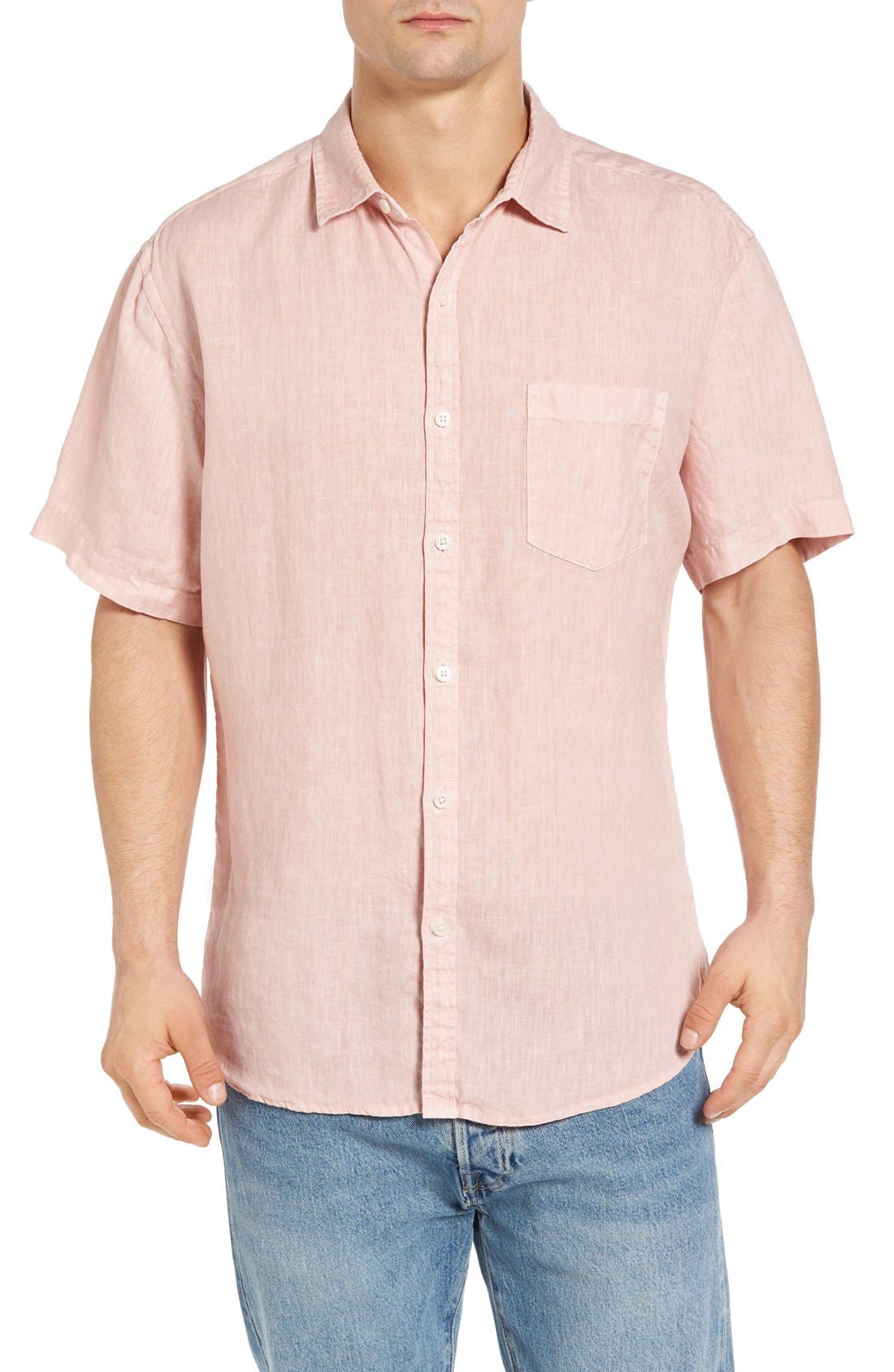 Original Paperbacks Rome Trim Fit Linen Sport Shirt