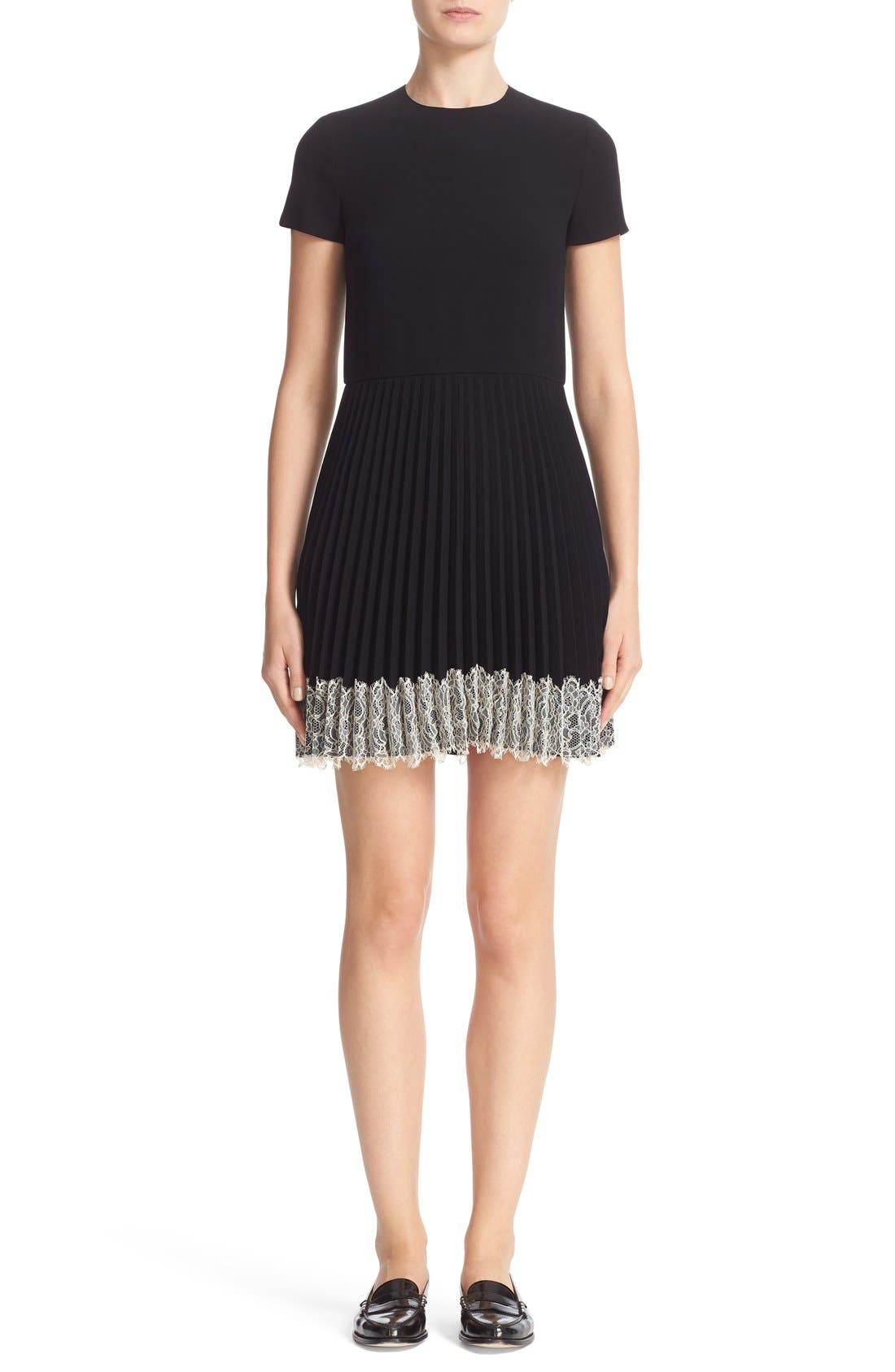 Alternate Image 1 Selected - RED Valentino Pleated Crepe Dress