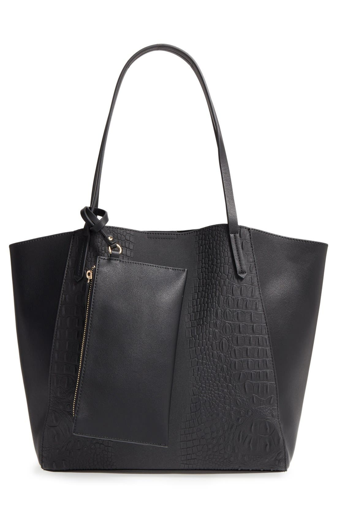 Alternate Image 3  - BP. Embossed Faux Leather Tote