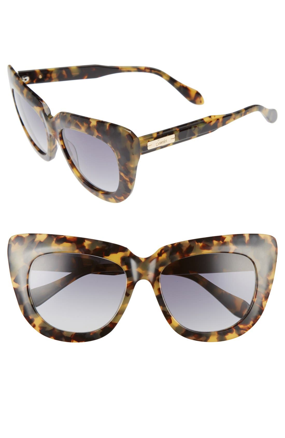 Alternate Image 1 Selected - Sonix Coco 55mm Gradient Cat Eye Sunglasses