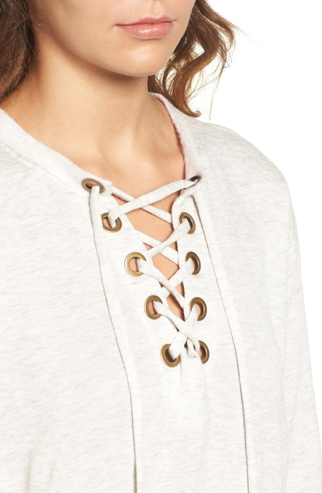 Alternate Image 5  - Socialite Lace-Up Sweatshirt