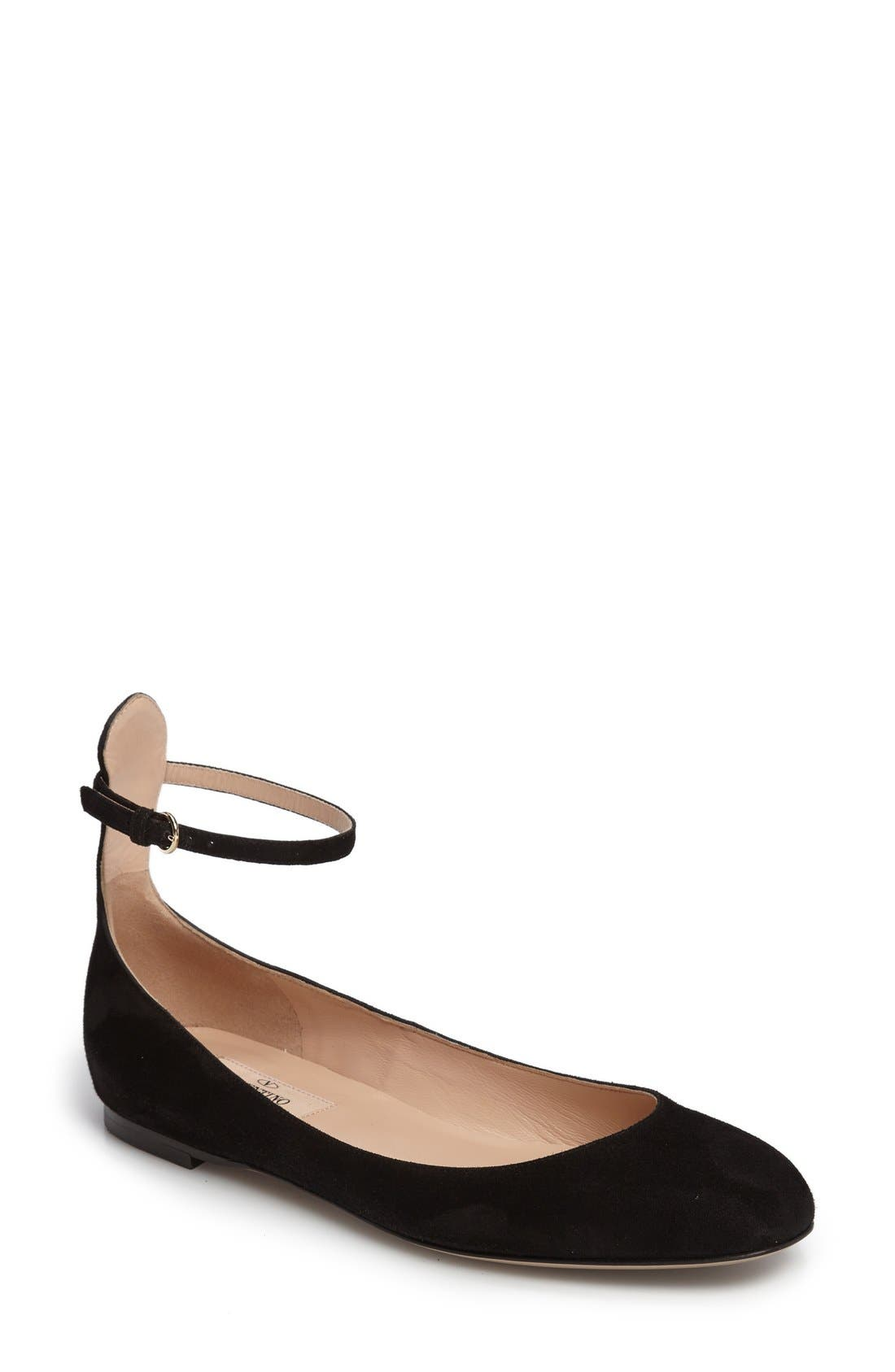 Alternate Image 1 Selected - Valentino Ankle Strap Ballet Flat (Women)