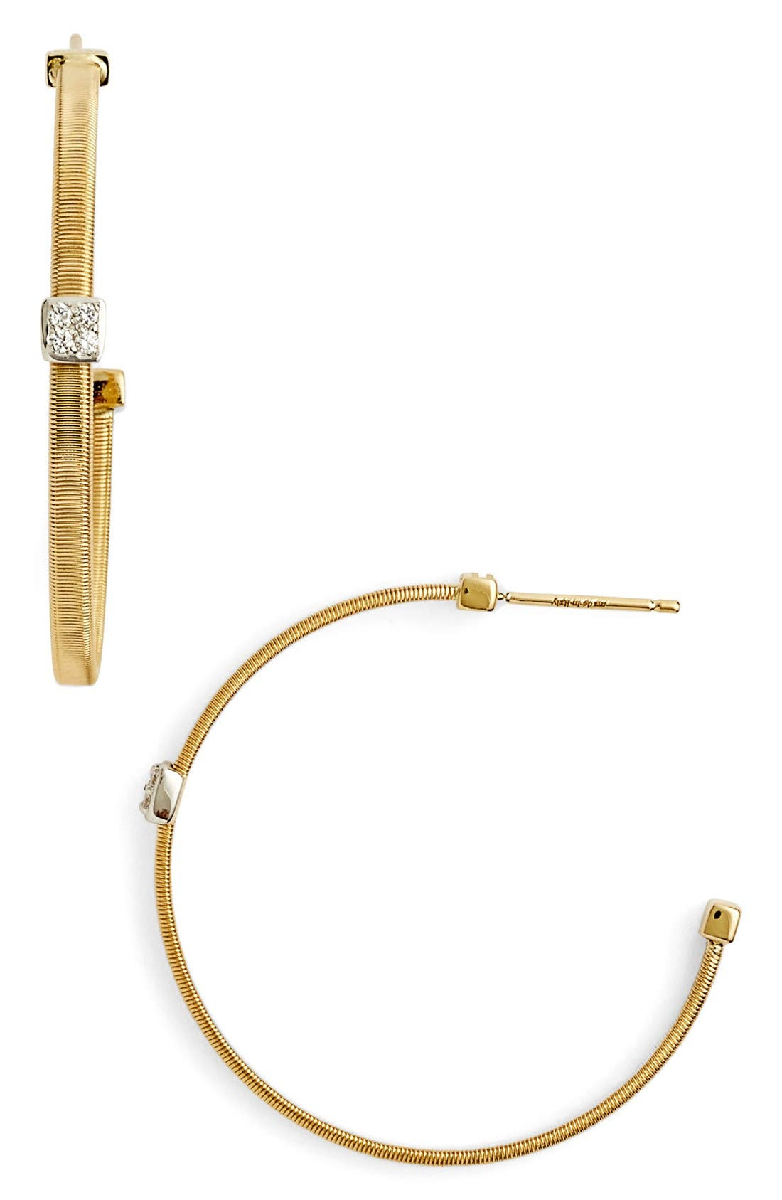 Marco Bicego Masai Large Diamond Hoop Earrings
