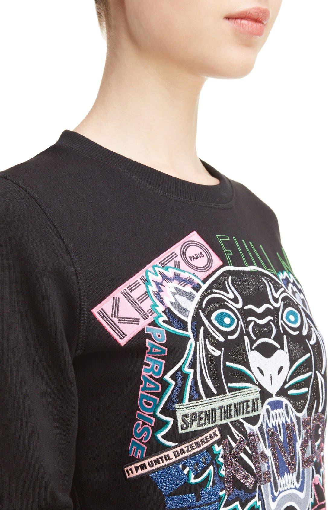 Alternate Image 4  - KENZO Embroidered Tiger Flyer Cotton Sweatshirt