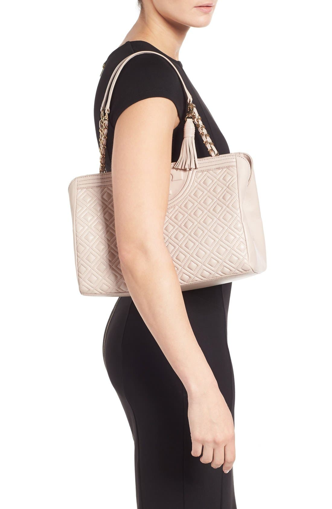 Alternate Image 2  - Tory Burch Fleming Leather Shoulder Bag