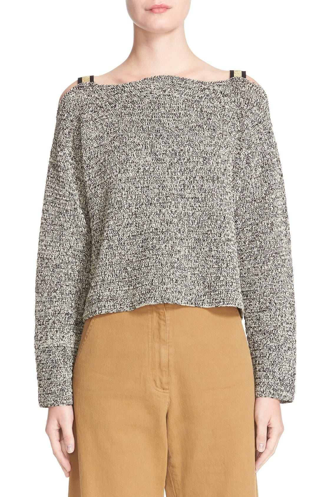 RACHEL COMEY Folsom Cold Shoulder Crochet Top