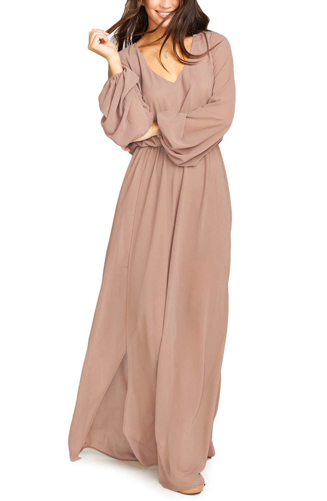 Show Me Your Mumu Jocelyn Blouson Gown