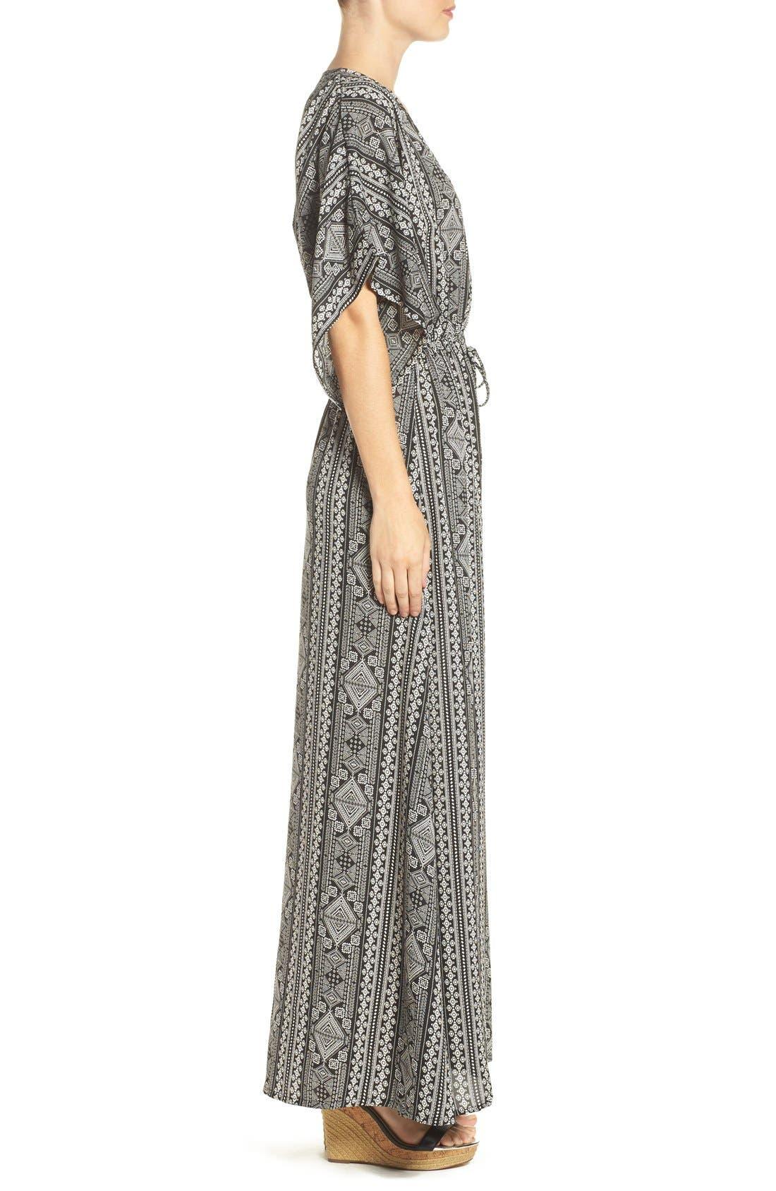 Alternate Image 3  - ElanPrint Woven Cover-Up Caftan Maxi Dress