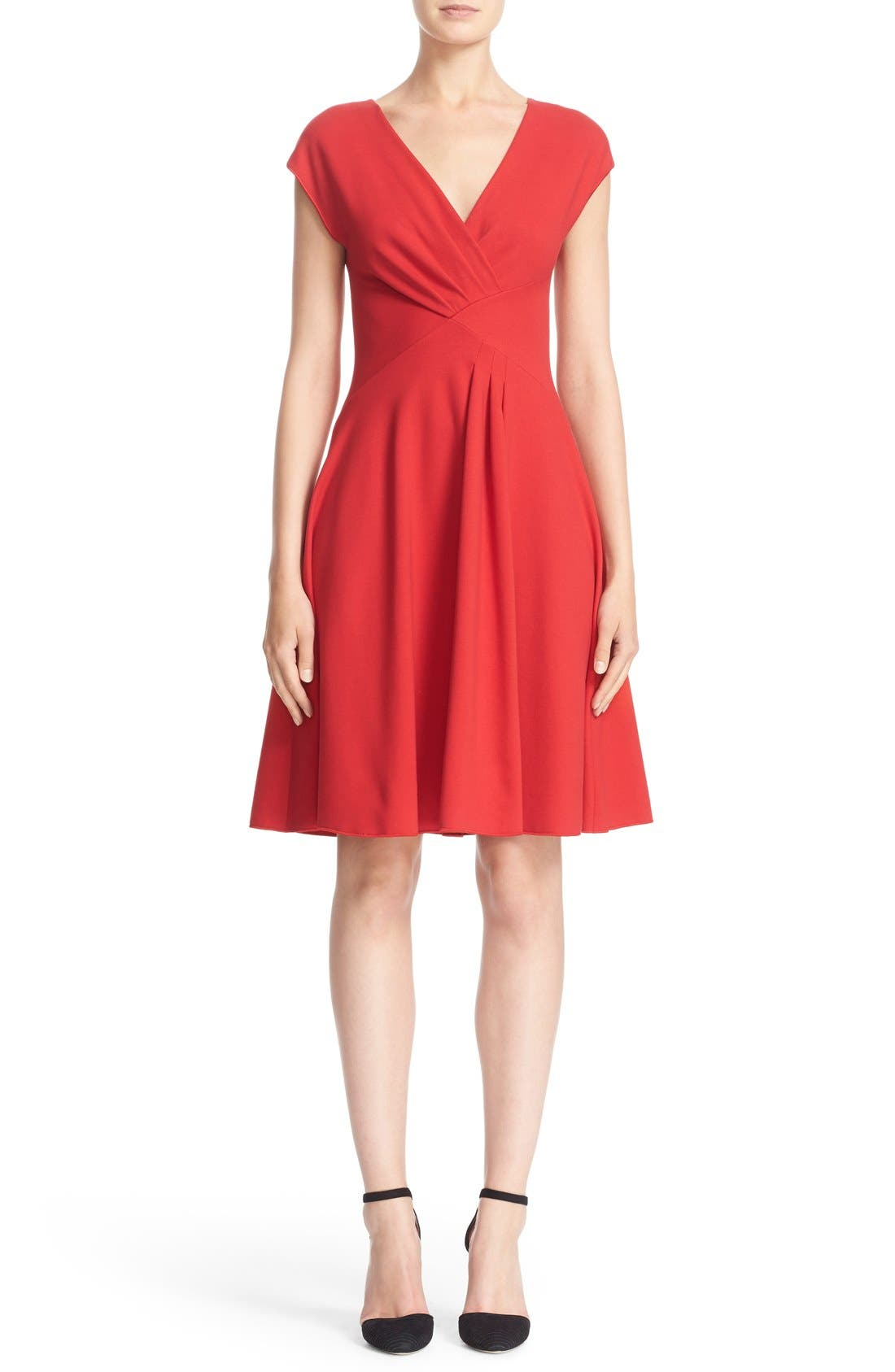 ARMANI COLLEZIONI Pleated Milano Jersey Dress