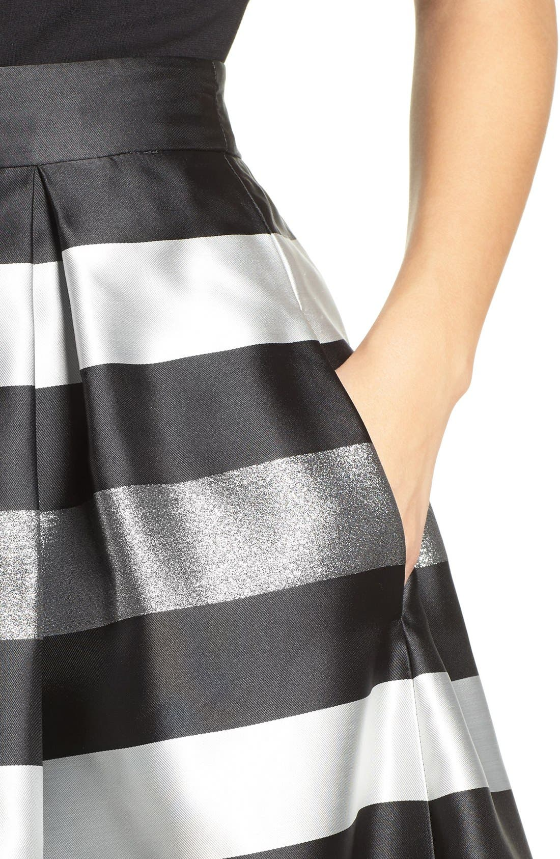 Alternate Image 5  - Eliza J Jacquard Midi Skirt