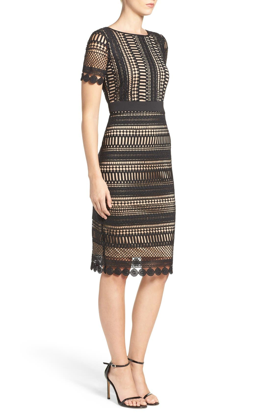 Alternate Image 3  - Gabby Skye Embroidered Lace Shift Dress