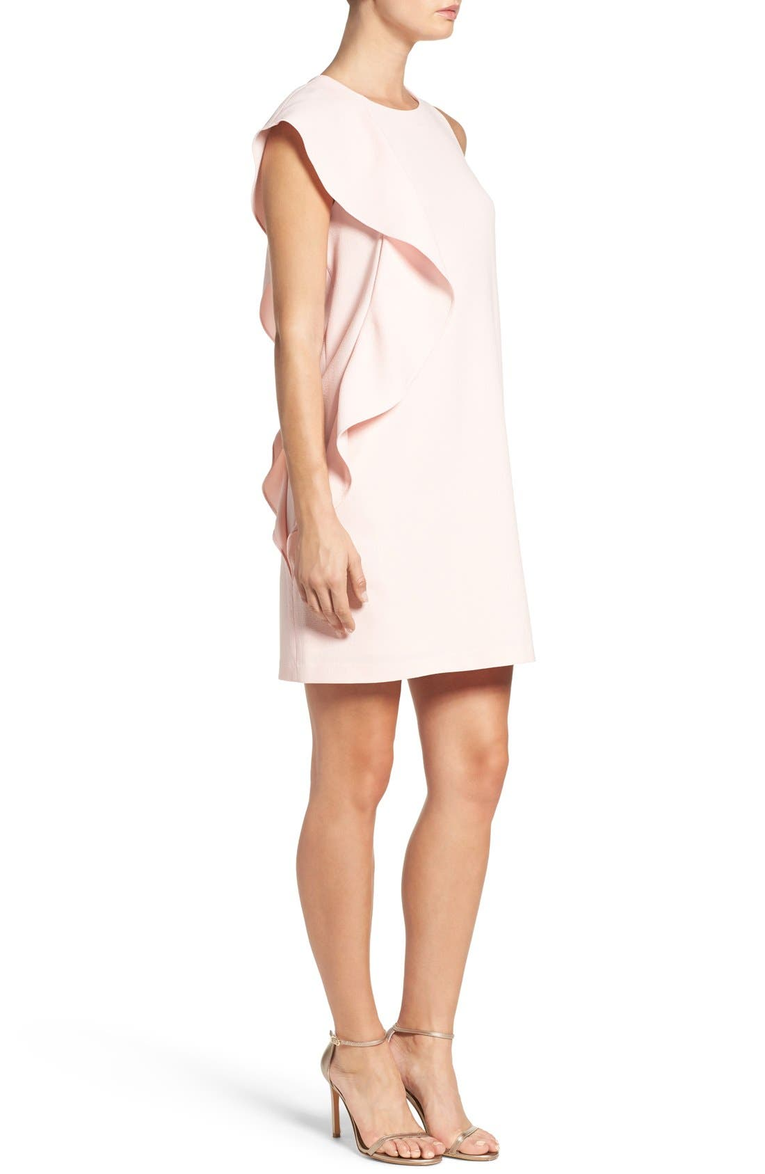 Alternate Image 3  - Chelsea28 Asymmetrical Ruffle Shift Dress